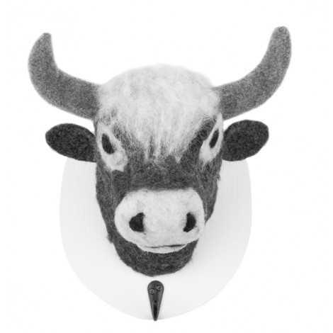 Trophée peluche tête de vache