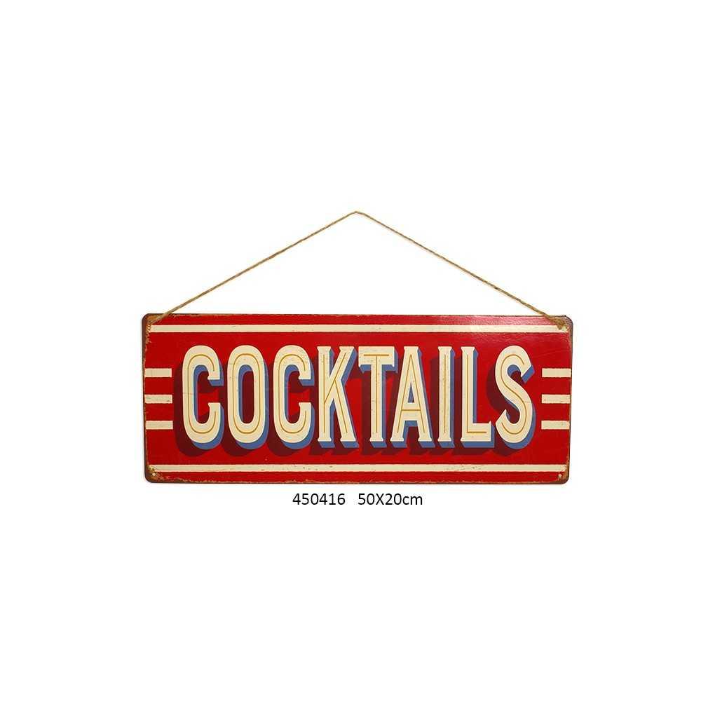 """Déco Salle À Manger Vintage plaque métal vintage """"cocktails"""""""