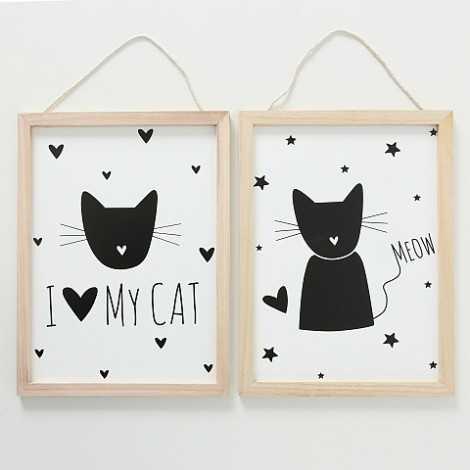 Cadre chat à suspendre
