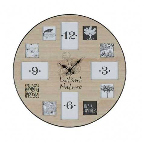 horloge en bois instant nature