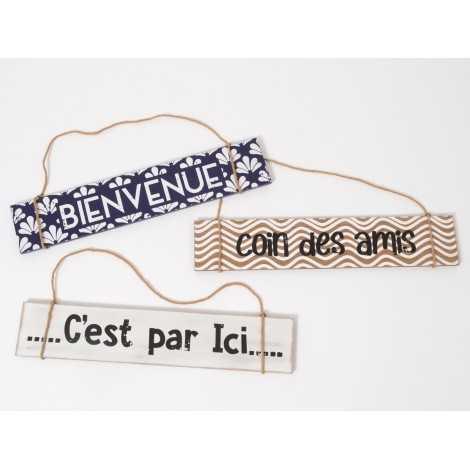 Pancarte décorative en bois...