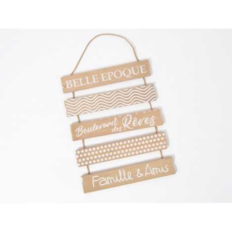 Pancarte décorative en bois