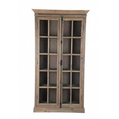 Vitrine 4 Planches Bois/Metal Naturel 110X45X195Cm