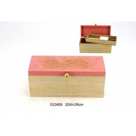 Boite à bijoux en bois décorative