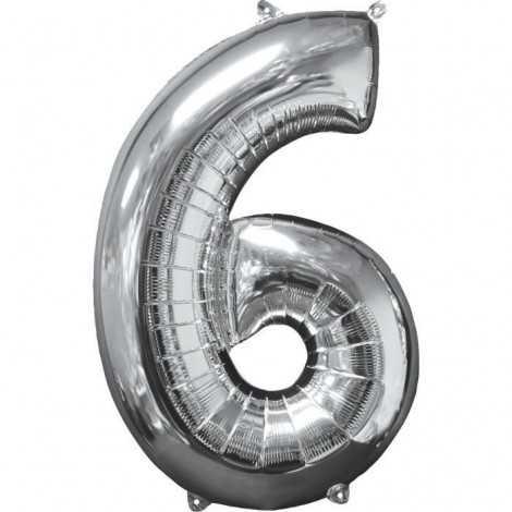 AMSCAN Ballon chiffre 6  51...