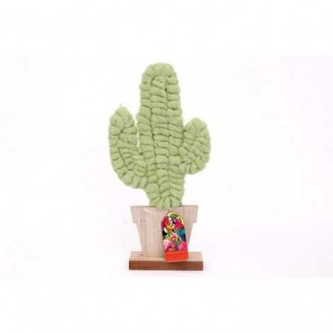 Cactus laine support bois...