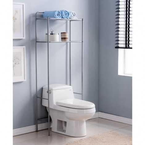Pont WC en métal  Gris...
