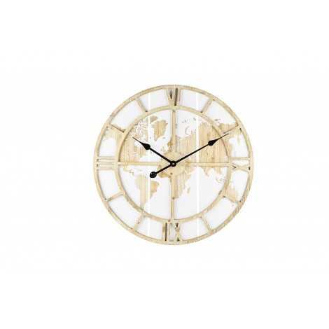 Horloge Mappemonde en bois...