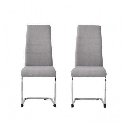 JANE Lot de 2 chaises Pied...
