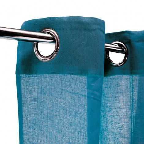 Voilage 100% coton Bleu...