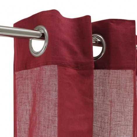 Voilage 100% coton  Rouge...