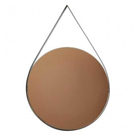 Miroir oval en métal 30 x...