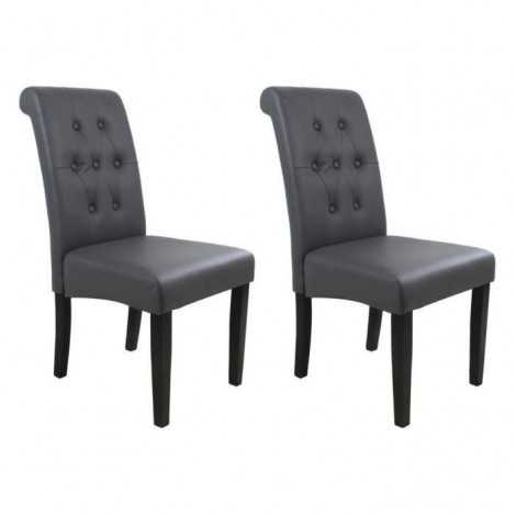 CUBA Lot de 2 chaises de...