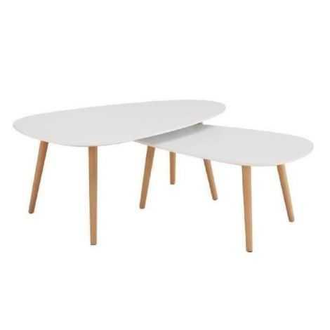 KIVI Lot de 2 tables basses...