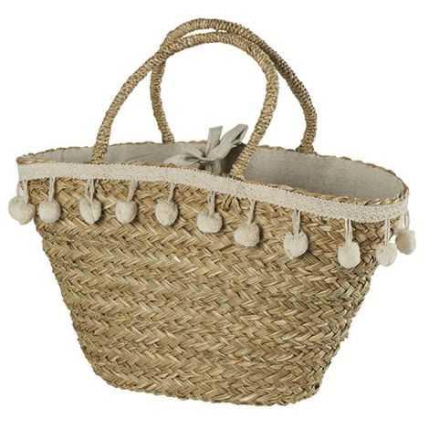 sac cabas, panier de marché en herbier marin