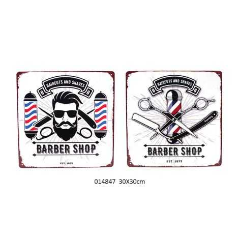 2 pancartes vintage BARBER