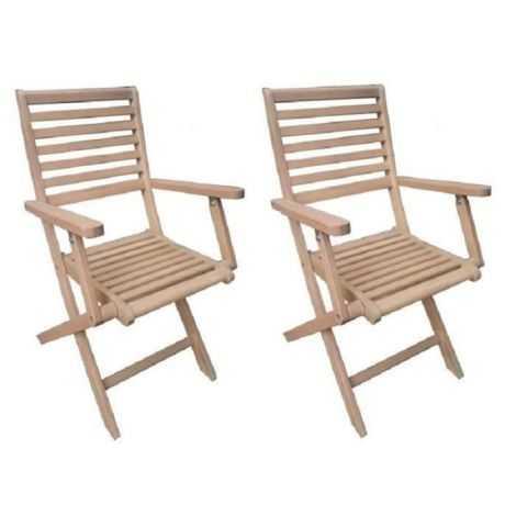 Lot de 2 fauteuils pliantes...