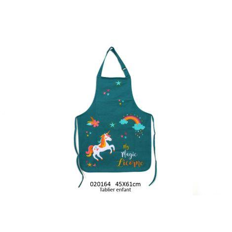 tablier de cuisine enfant licorne