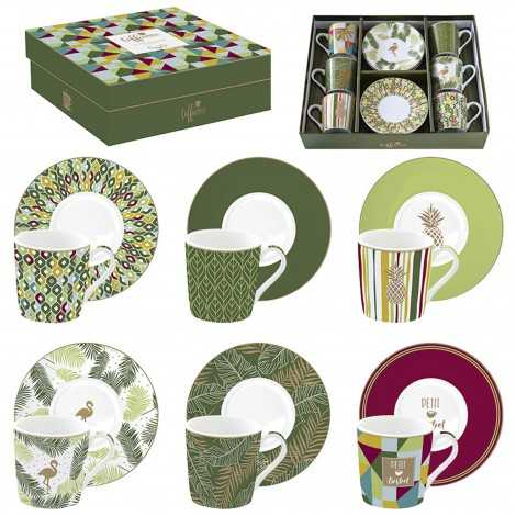 coffret de tasse jungle