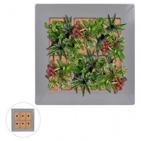 Mur végétal en métal...