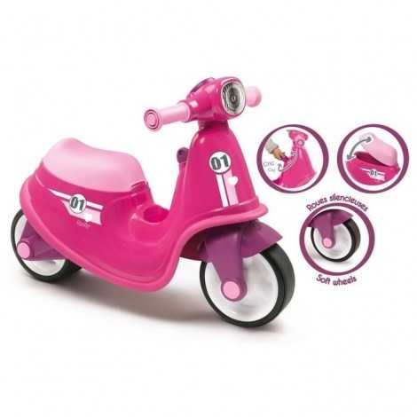 SMOBY Porteur Scooter Rose...